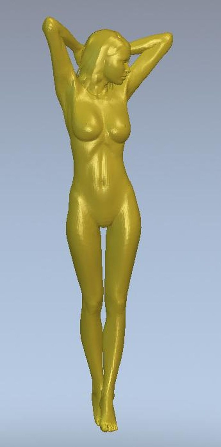 3d Model Relief  For Cnc Or 3D Printers In STL File Format Skinny Girl