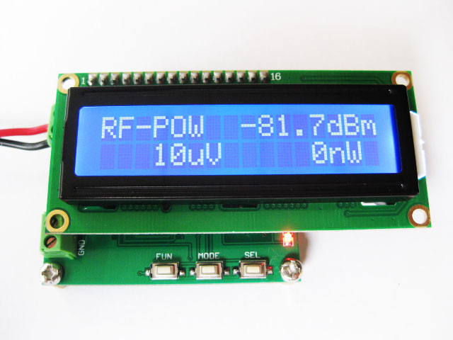 RF Power Meter 0-500Mhz -80~10 DBm   Can Set The RF Power Attenuation Value