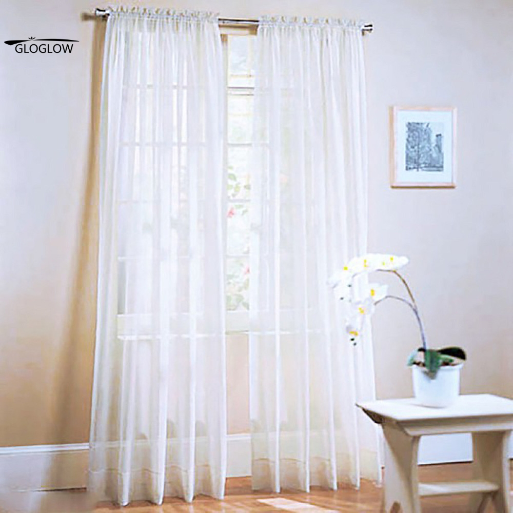Mesh Curtain Panels : Tulle curtains solid color window mesh fabric for