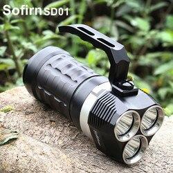 Sofirn SD01 Hohe Leistungsstarke Zoomable-led taschenlampe 18650 Cree XPL 3000LM Lanterna Taktische Militärische Handheld Scuba Tauchen