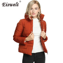 New Fashion Stand Collar Quilted Jacket High Quality Women's Down Basic Coat Zipper Cotton Padded Outwear Outerwear & Coats Wc18