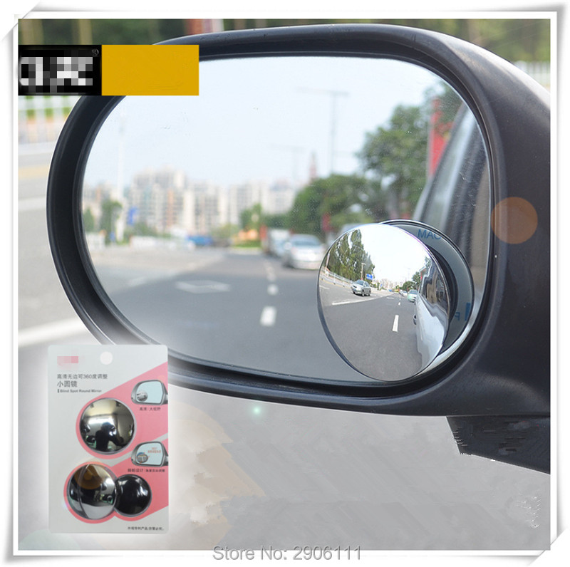 2pcs 360 Degree Car mirror Wide Angle Convex Blind Spot mirror for Hyundai elantra ix35 solaris accent i30 ix25 tucson i20 i40