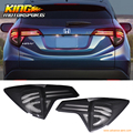 For 2016 Honda HRV Rear Full LED Light Bar Tail Lights W/ Switchback - Black Clear