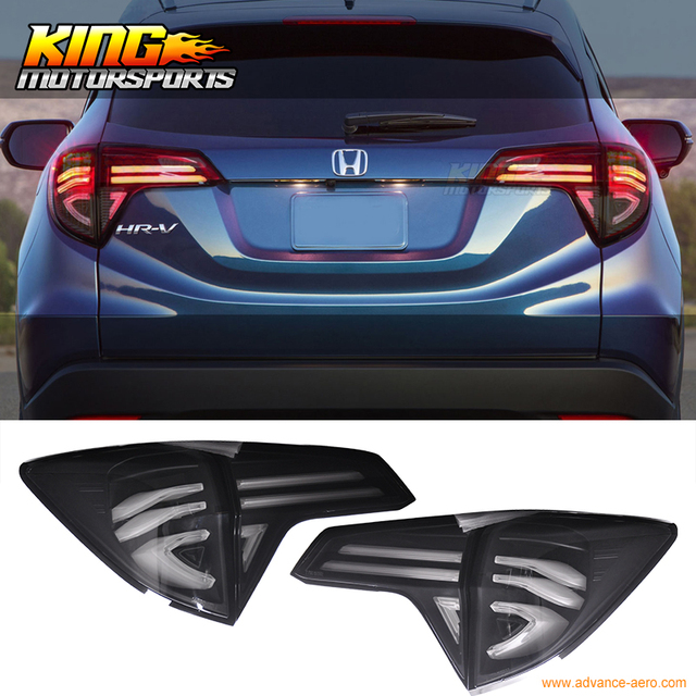 For 2016 Honda Hrv Rear Full Led Light Bar Tail Lights W Switchback Black