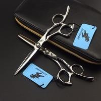 6 VG10 Barber Hairdressing Japanese Scissors Hair Scissors Haircut Barber Kit Professional Hair Clippers set