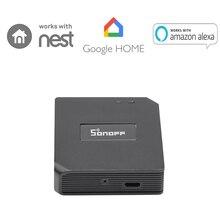 Sonoff RF Brigde Wi Fi 433 мГц беспроводной преобразователь сигнала для Умный дом автоматизации отлично работает с Amazon Alexa, Google дома