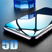 5D Full Cover Tempered Glass For iPhone 7 8 6s 6/7/8Plus XS Protective Screen for iphone x plus 6