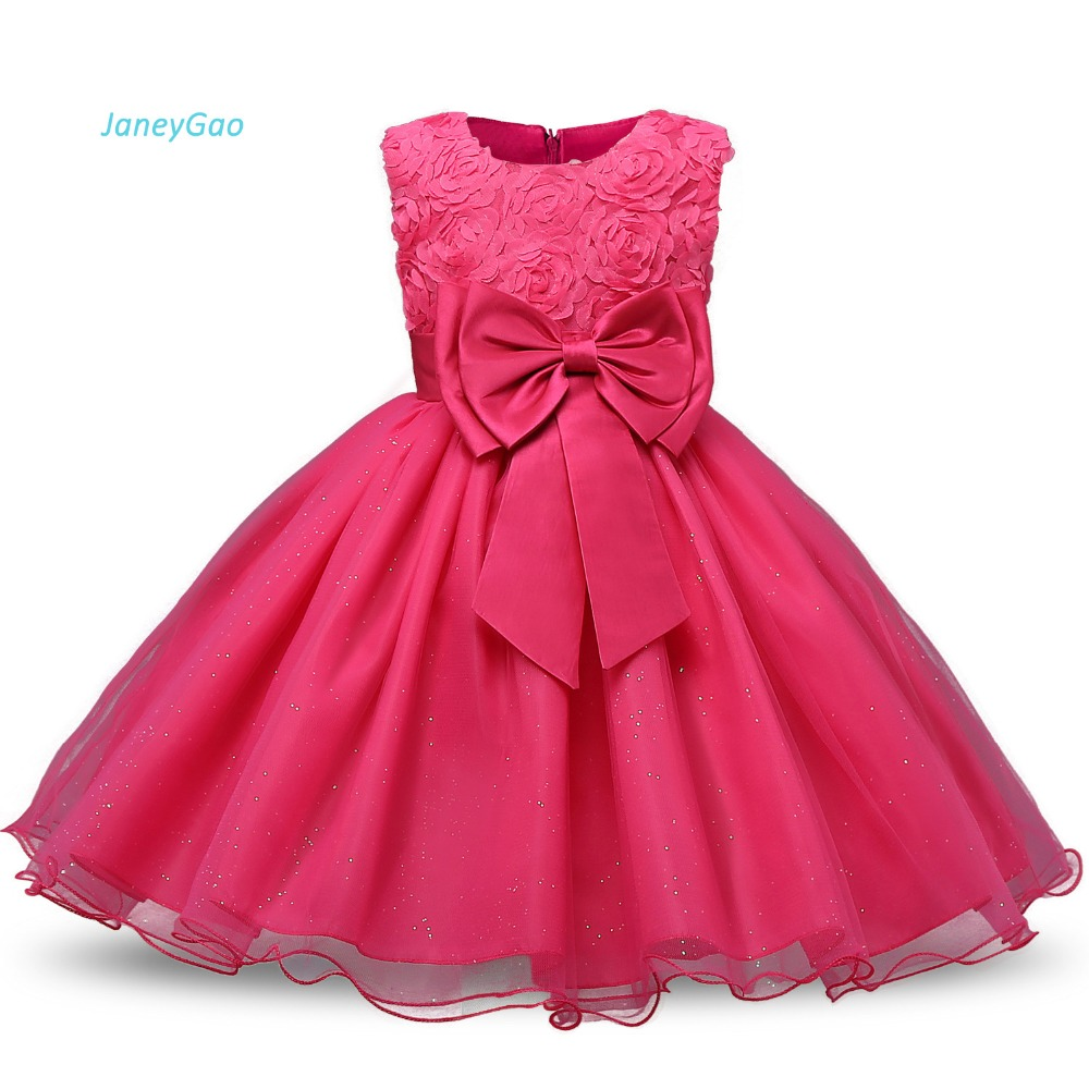 JaneyGao   Flower     Girl     Dresses   For Wedding Party Formal Gown For Little   Girl   Baby Birthday   Dress   2018 Summer New Fashion Hot Sale