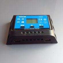 1pc x 20A PR3020 12V/24V LCD PWM Solar Panel Charge Regulator Battery Controller with two USB 5V Charger Backlight