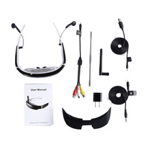 Can adjust the luminance and contrast 68 inch LCD FPV 3D 40CH Goggles Glasses Receiver For 250/F210 RC Helicopter Drone