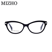 6b30a8369 MIZHO Brand Designer Striped Vintage Glasses Frame Men Optical Fashion  Small Transparent Cat Eye Glasses Frames