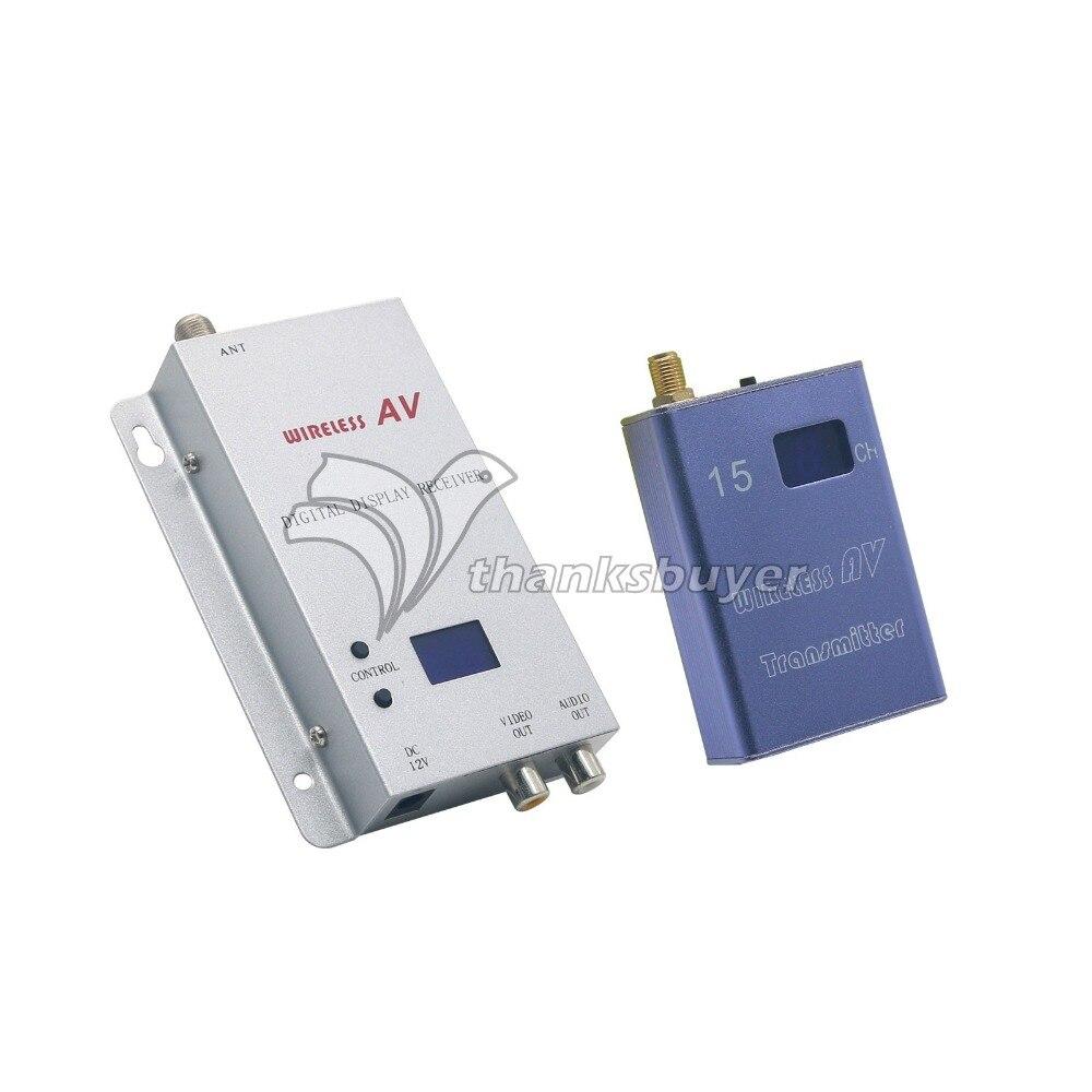 DC12V 1.2 GHz 400mA 700 mW 15CH Sans Fil Dans la Chambre à Chambre Audio/Vidéo Émetteur Récepteur