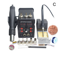 1 Set Double Digital Display Eruntop 8586D+ Electric Soldering Irons +Hot Air Gun SMD Rework Station Upgraded from 8586