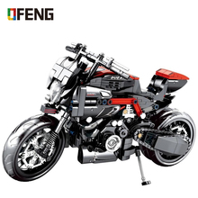 Technic Series Motorcycle Building Blocks Ducating set Bricks Model City Speed Educational Toys For Children Gifts Compatible lepin 02025 360pcs city series the high speed racer transporter set children educational building blocks funny toys model 60151