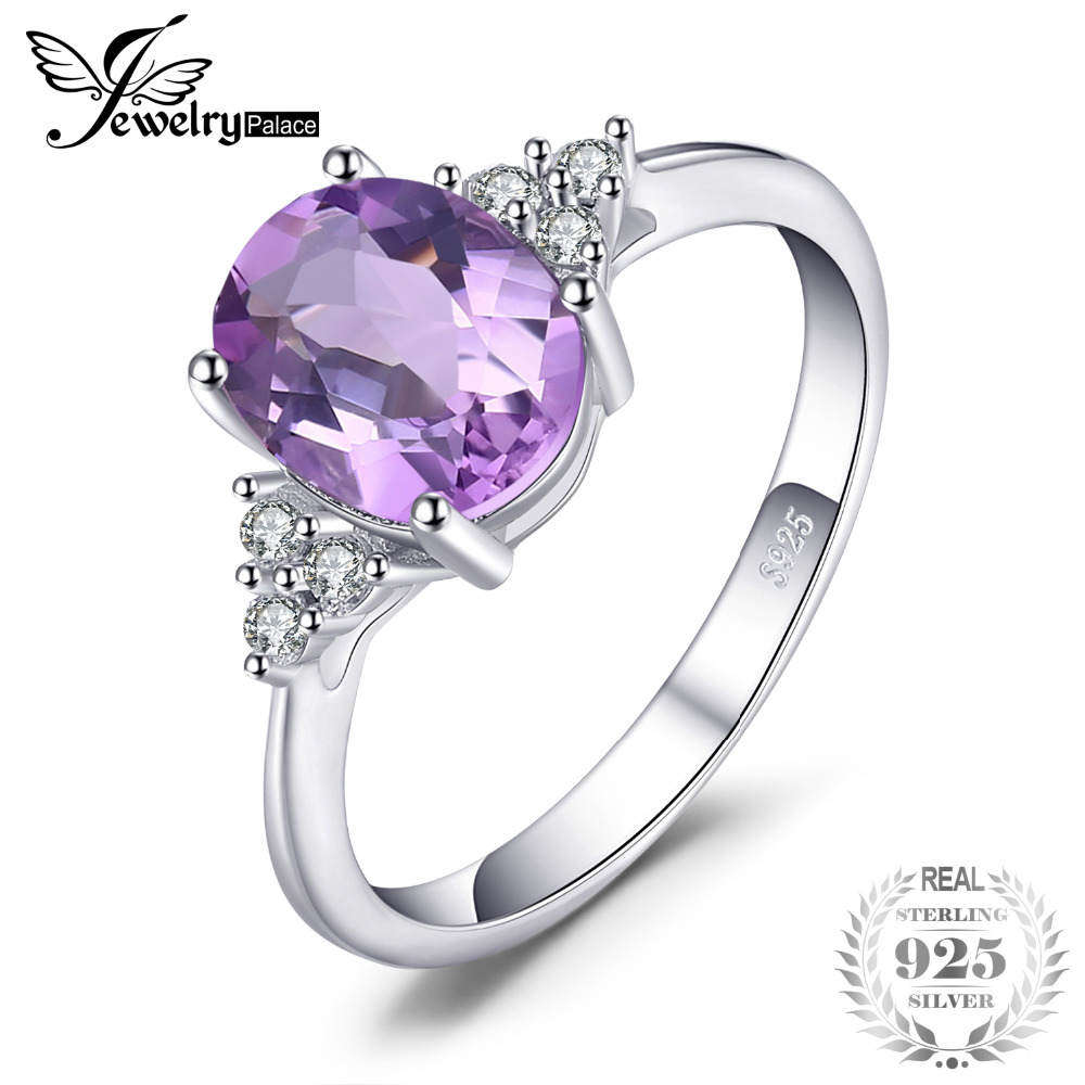 JewelryPalace Fancy 2.0ct Created Alexandrite Sapphire Halo Ring 925 Sterling Silver c96N9uY