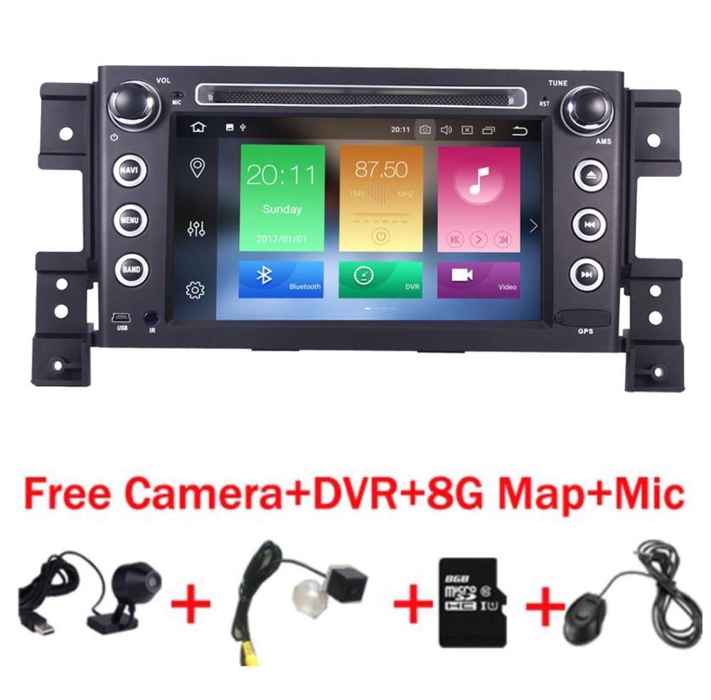 2 din android 8.0 lecteur DVD de voiture pour Suzuki grand vitara multimédia de voiture radio stéréo gps avec volant caméra DVR Carte