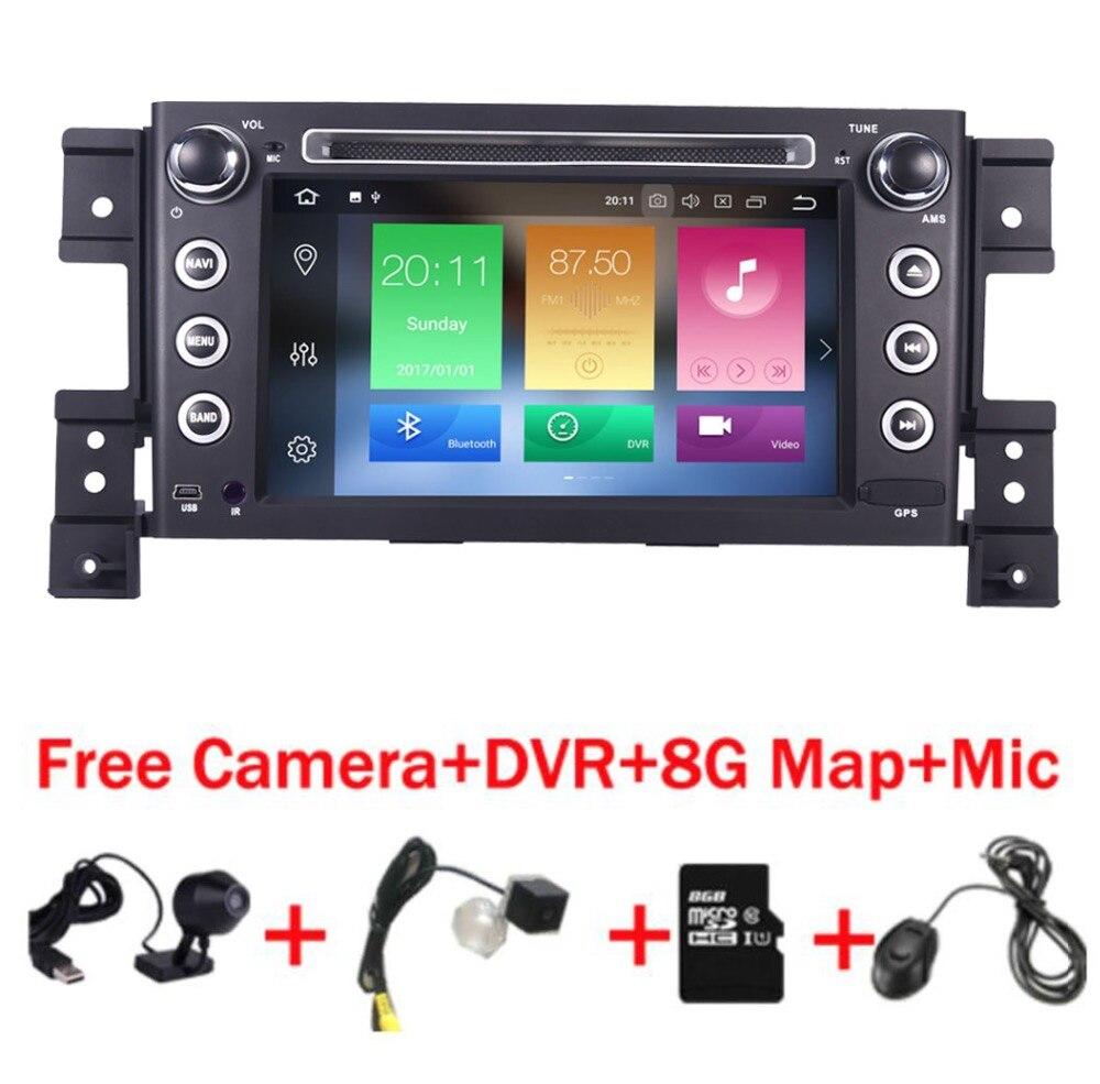 Lecteur DVD de voiture 2 din android 8.0 pour Suzuki grand vitara autoradio stéréo gps avec volant caméra DVR carte