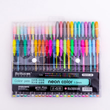 Ensemble de stylos à Gel 48 couleurs, marqueurs artistiques à paillettes colorées pour dessin et peinture, fournitures de papeterie pour cadeaux, école, bureau