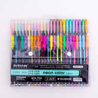 48 Colors Gel Pen Set Drawing Painting Colored Glitter Art Marker Pens School Student Office Writing Stationery Gifts Supplies