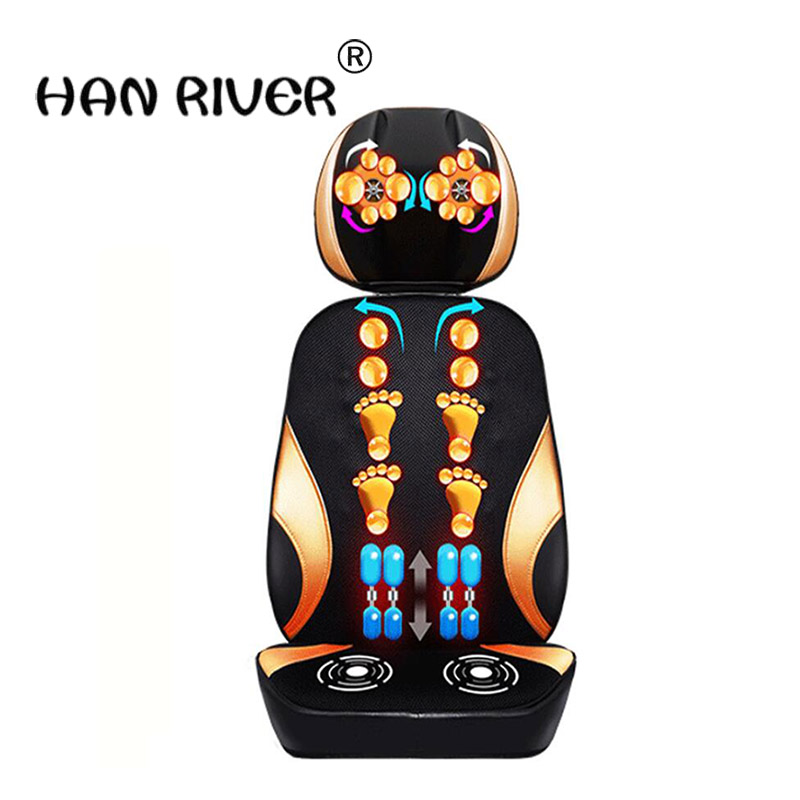 HANRIVER Massage chair massage cervical spine through massage cushion body multifunction pillow electric chair cushion цены