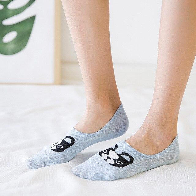 606ac76b26dac 2017 New Spring Summer Cartoon Dog Socks Women's ankle Socks super  invisible sock anti-slip