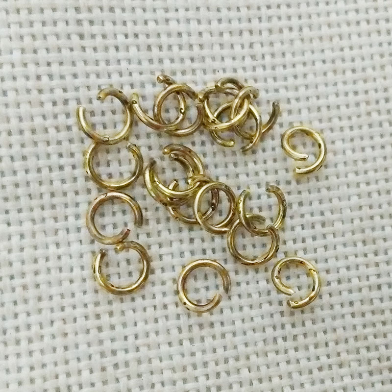 gun black antique gold open Jump Rings split ring loops