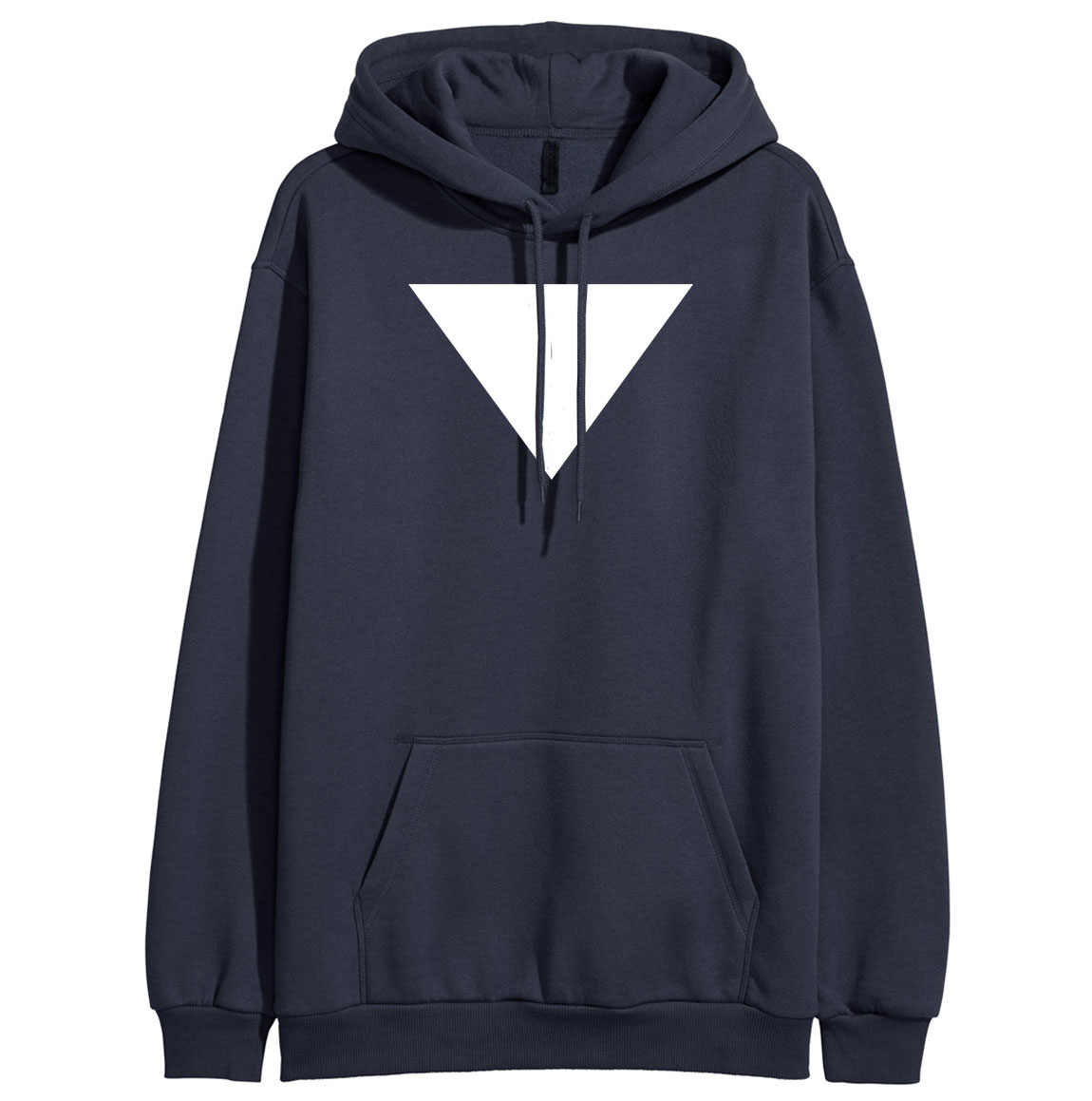 Inverted Triangle Print HipHop Streetwear 2019 Spring Hoody For Women Winter Female Sweatshirt Sportswear K-pop Clothes