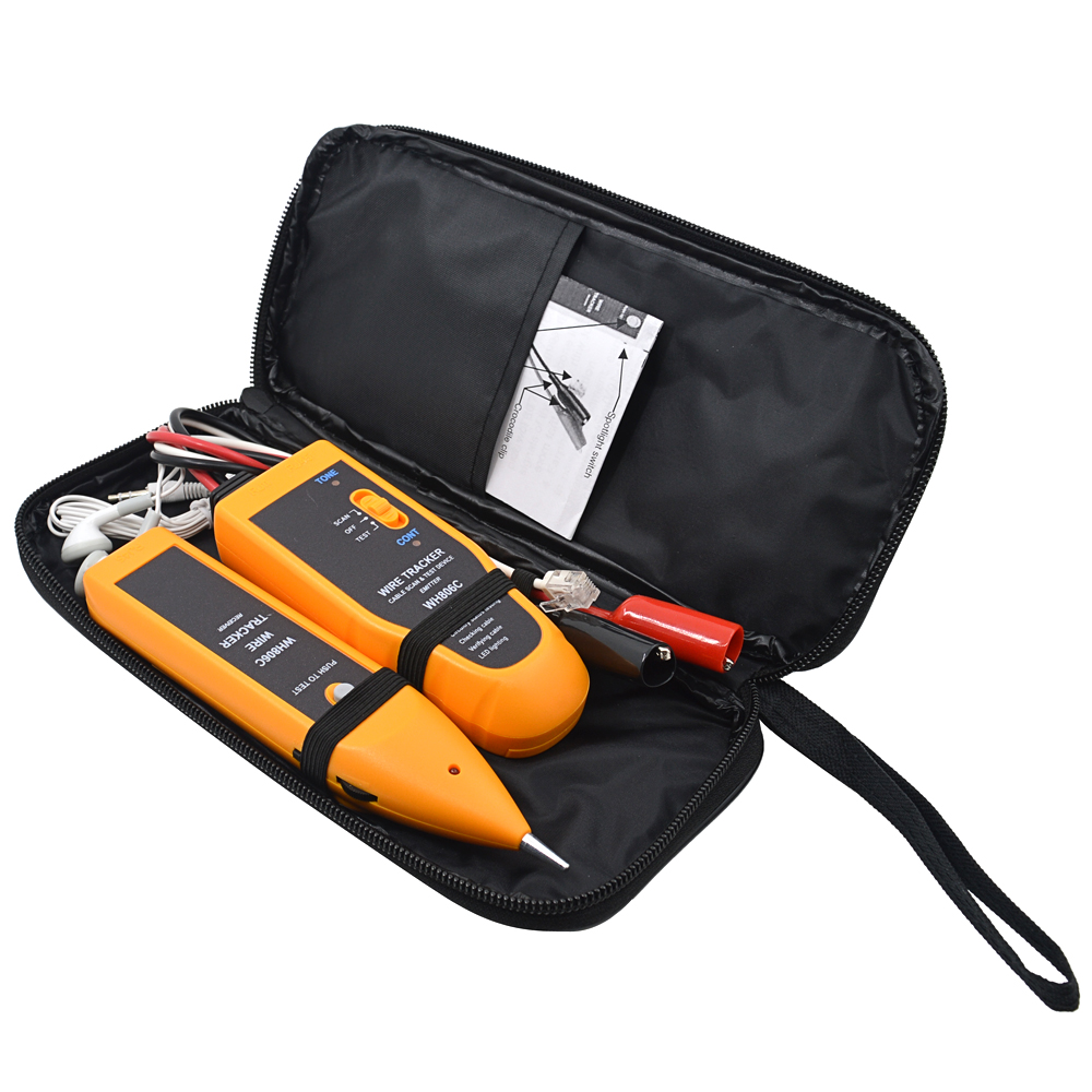 Mjtek Wh806c Cable Tester Cat5 Cat6 Rj11 Rj45 Crimper Lan Wire Telephone Cat 5 Wiring Diagram Get Free Image About Tracker Diagnose Tone Professional Networking Tool In Tools From Computer