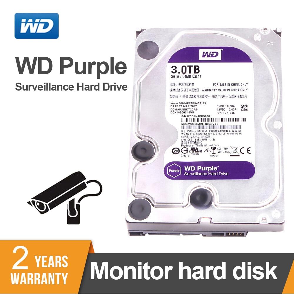 WD Original Purple Surveillance HDD 1TB 2TB 3TB 4TB 6TB 8TB 10TB 12TB SATA 6 0Gb