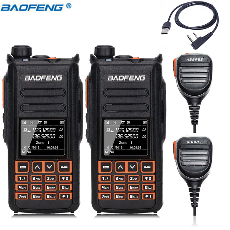 2PCS BaoFeng DM X DMR digital walkie talkie GPS voice record VHF UHF dual band 136