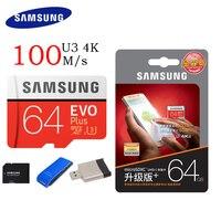 SAMSUNG Original Micro SD Card 256G 128G 64G 32GB 100M S EVO Memory Card EVO Plus