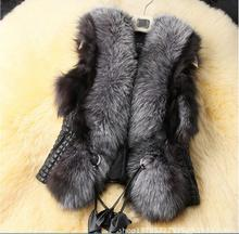 Hot section design Fur & Faux Fur female simulation fur vest high-end atmospheric code S-5XL