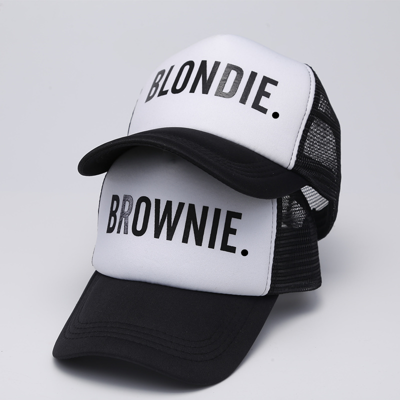 BLONDIE-BROWNIE-Baseball-caps-Trucker-Mesh-cap-Women-Gift-For-Girlfriends-Her-High-Quality-Caps-Bill