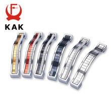 Kak 5 шт стеклянные ручки из цинкового сплава для выдвижных