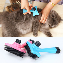 2019 new pet dog brush short long thick hair fur shedding remove cat groom rake brush comb dog puppy grooming brush clean tool Multi-purpose Pet Dog Cat Brush Removal Grooming Comb Hair Fur Shedding Trimmer Professional Pet Accessories