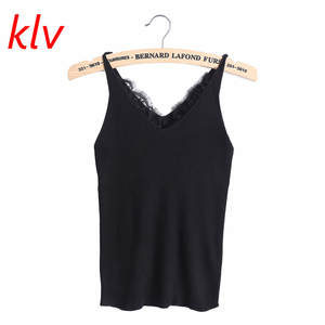 7105590b1e4c6 KLV knitted Tank Tops Women Summer Vest Ladies Sexy Camis