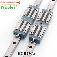 Noulei HGR25 Linear Guideways and HGH25CA Slides Blocks 1000mm CNC Guide Rails 25mm Set HGH25 1200mm
