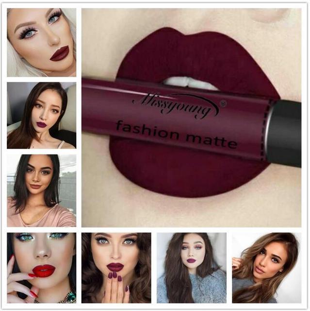 12 Couleurs de Longue Durée Étanche Liquide Crayon Mat Rouge À Lèvres Brillant À Lèvres Maquillage Antiadhésive tasse 1