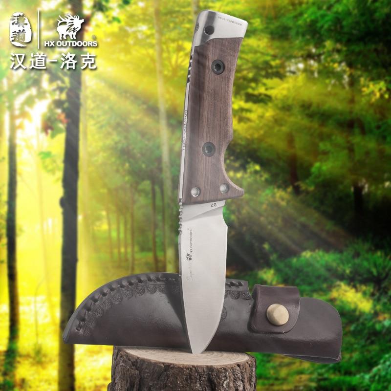 HX OUTDOORS Lok mango de madera táctico de alta dureza cuchillo - Herramientas manuales - foto 3