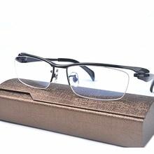 407a71c023a MINCL Brand Pure Titanium Ultra Light Tint Glass Men Stylish Eye Glasses  Frame Diamond Trimmed clear Lenses Men Eyeglasses FML-in Eyewear Frames  from ...