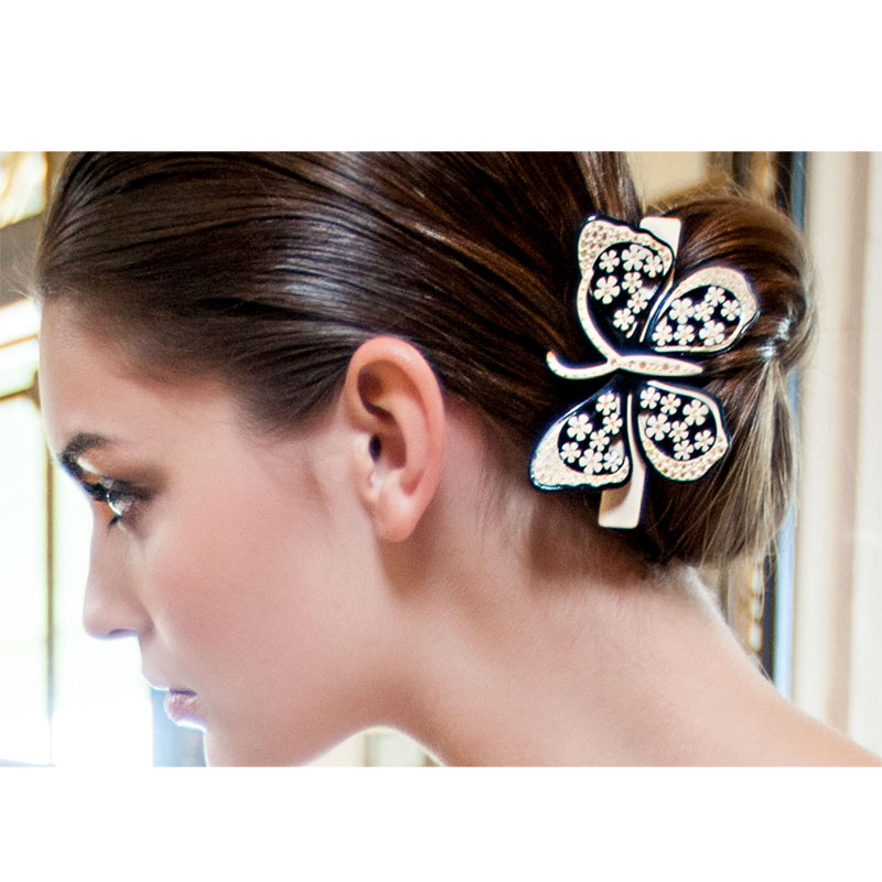 Alexander Big Large Butterfly Rhinestone Acrylic Wedding Bridal Hair Barrette Clip Pin Accessories Jewelry Ornament for Women lysumduoe headband black hairpin women clip s shape barrette girl hairgrip hairgrips children hairpins jewelry hair accessories