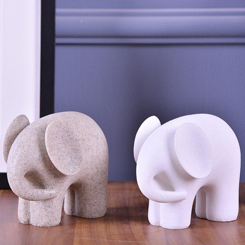 Kreative Natürliche Sandstein Elefant Skulptur Harz Handwerk ...
