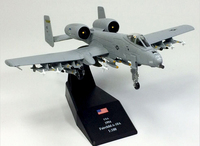 AMER Elaborate Edition 1 100 American A10 Lightning Fighter Attack Aircraft Model Alloy Collection Model Holiday