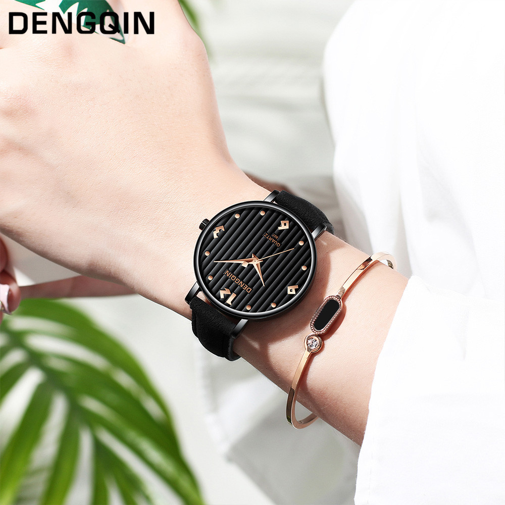 Top Brand Fashion Ladies Watches Leather Female Quartz Watch Women Thin Casual Strap Watch Reloj Mujer Marble Dial #YT224