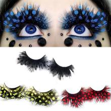 New Fashion six Style 1 Pair  Halloween Costume Party Makeup Sexy  Feather False Eyelashes Beauty Tools