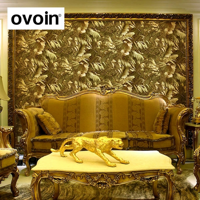 Light Reflect Gold Foil Texture Wallpaper Roll Luxury Golden Metallic Wall Paper Embossed Background Coverings