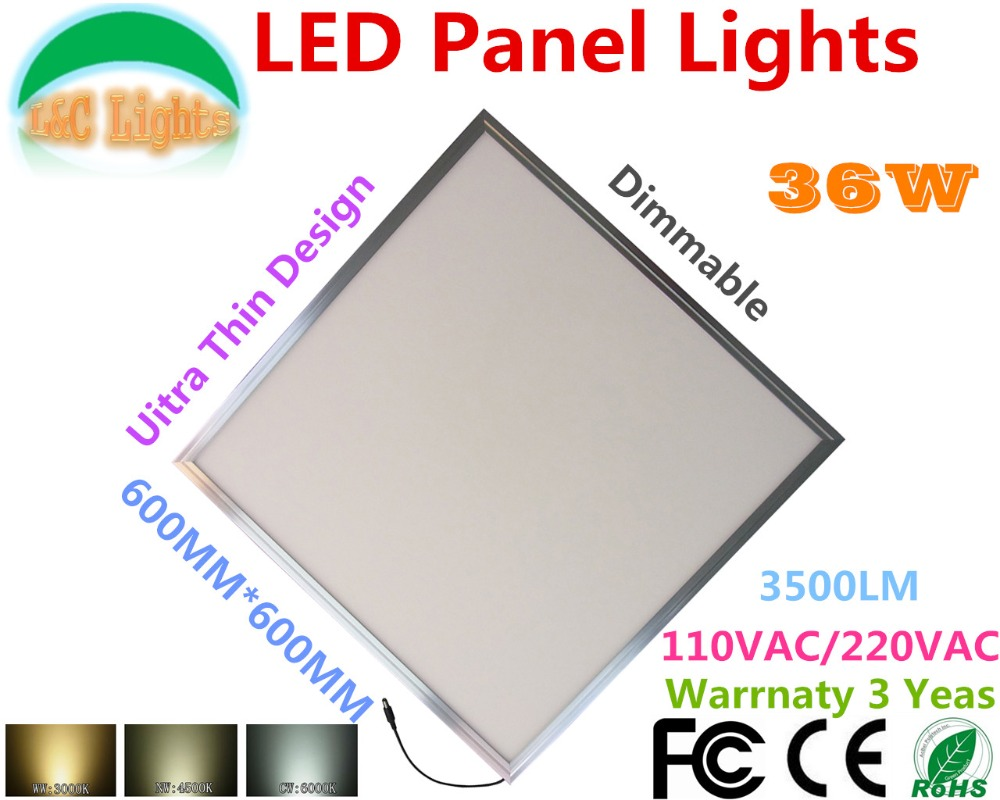 High quality with cheap price led panel light 36w 600x600 ac85 265v - 36w Dimmable Led Panel Lights Bright 600x600 Grille Light Ceiling Lamp 2200lm Ce Rohs 110vac