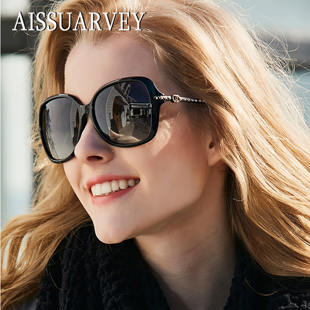 2019 New Diamond Acetate Fashion Polarized Sunglasses for Woman Top Quality Girls Lady Brand Classic Goggles