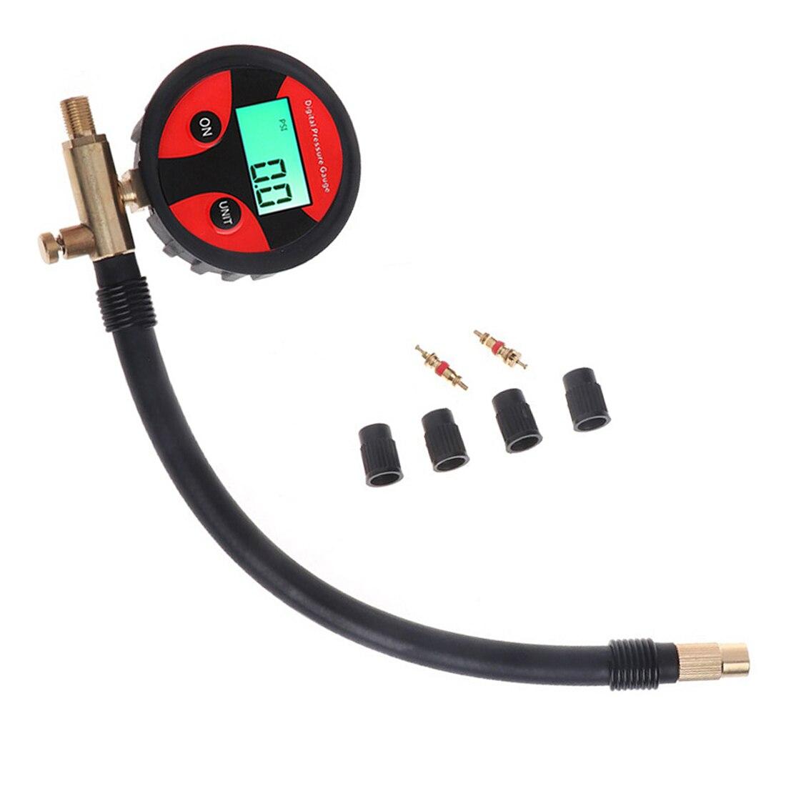 0-200PSI Digital Tyre Tire Air Pressure Gauge LCD Manometer Car Truck Motorbike  Tool