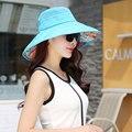 Asy Топ Мода Лето Цветочный Пляж Ведро Hat Женщины Синий Колпачок быстро Сохнут Вводная Часть Складной Bape Gorro Панама-Сити Женщины Вс Шляпы